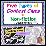 Find Context Clues in Non-Fiction: Five Types of Context Clues (differentiated)