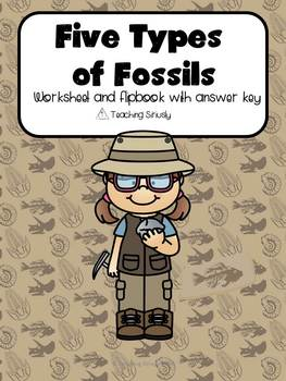Five Types of Fossils Worksheet and Flip Book