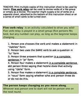 Five Verb Relay