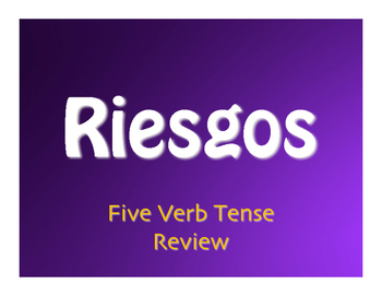 Spanish Five Verb Tense Review Jeopardy-Style Review Game