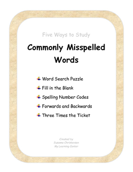 Five Ways to Study Commonly Misspelled Words