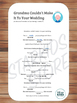 Five Wedding Mad Libs