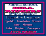 Five Week Middle School ELA Bell Ringers Packet - Figurati