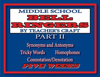 Five Week Middle School ELA Bell Ringers Packet - Part 2