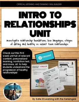 Five Week Unit: Introduction to Relationships
