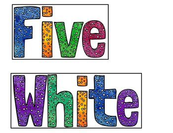 Five White and Fluffy Sheep (Pocket Chart Activity)