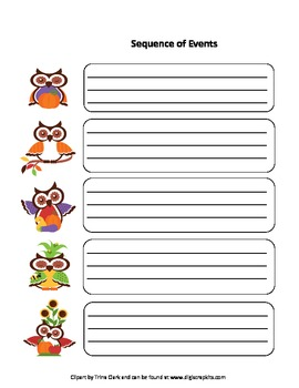 Five Wise Fall Owls Graphic Organizers