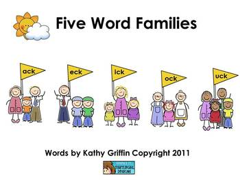 Five Word Families Books