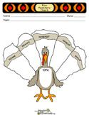 Five 5W's Turkey Graphic Organizer