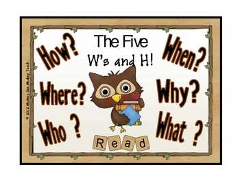 Five W's and How ( Owl Theme)