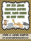 Five Zoo Animals Subtraction Emergent Reader for Zoo Math