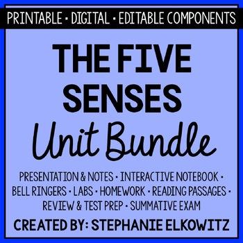 Five Senses and Sensory Processing Unit Bundle