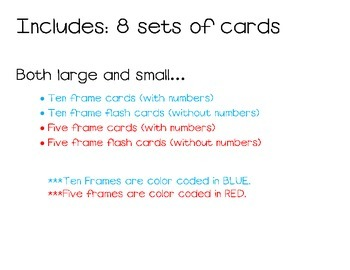 Five and Ten Frame Cards