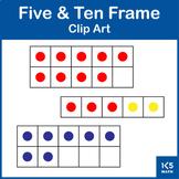 Five and Ten Frames Clip Art