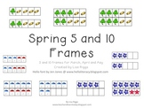 Five and Ten Frames for Spring Math Centers