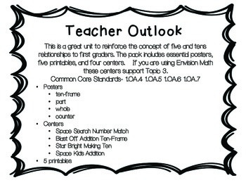 Five and Ten Relationships Centers, Printables, and Posters