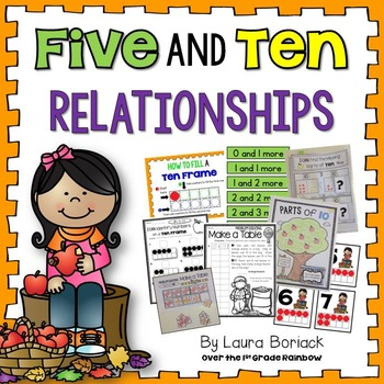 Five and Ten Relationships {Numbers on a Ten Frame and Parts of 10}