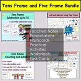 Tens Frame and Five Frames Addition and Subtraction Tasks