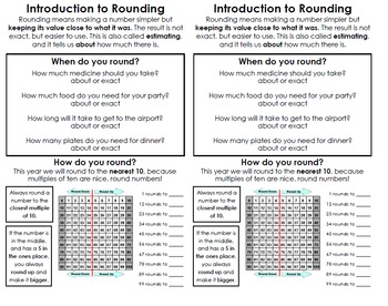Five-day Rounding Unit for 2nd Grade - Editable