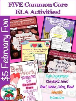 Five for February! Common Core ELA Activities Bundle
