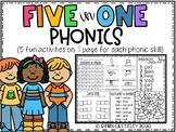 Five in One: No Prep Phonics Mats