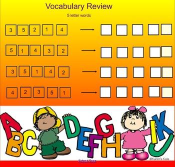 Five letter word Scramble