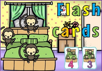 Five little monkeys flash cards(50% off For 48 hours)