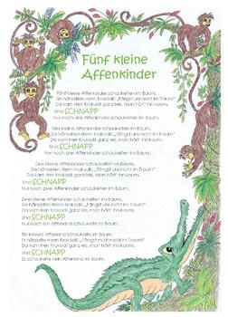 Five little monkeys_ Fünf kleine Affen