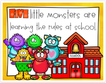 Five little monsters went to school packet