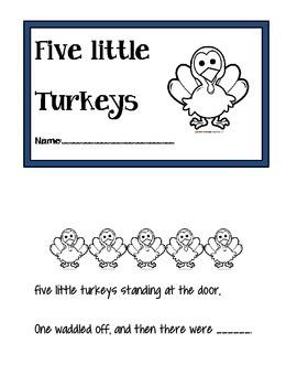 Five little turkeys Thanksgiving book / song