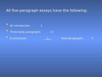 Five paragraph essay presentation