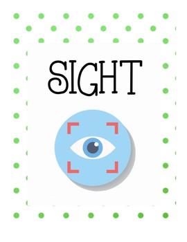 Five senses flashcards
