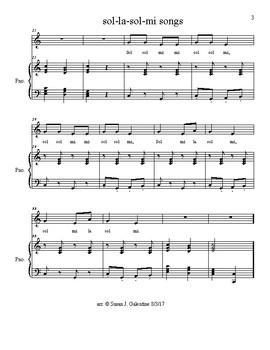 Five sol la sol mi songs