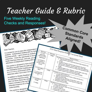 Independent Reading Packet: Logs, Exit Tickets, Rubrics