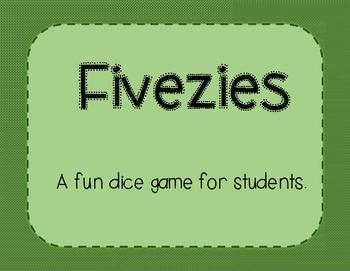 Fivezies-A Math Dice Game