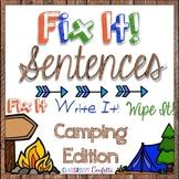 Fix IT Sentences *Camping*