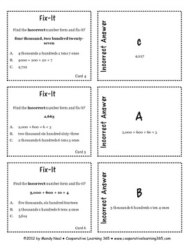 Fix It Card Pack - Number Forms