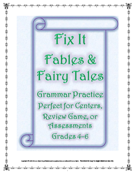 Fix It Fables and Fairy Tales Grammar Practice Center Game