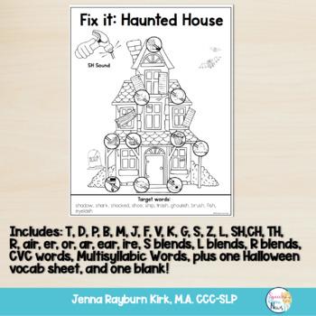 Fix It: Halloween Interactive Articulation Activity