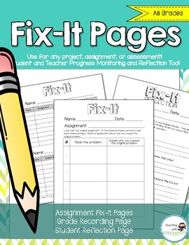Fix-It Pages - for students to fix mistakes