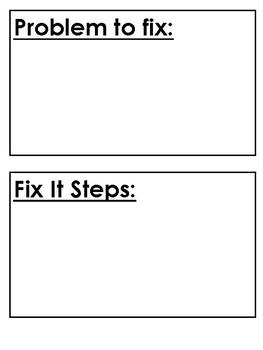 Fix It Plan Folder