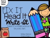 Fix It! Read It! Write It! Back to School Sentence Scrambles