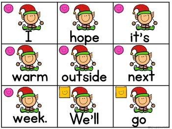 Fix It! Read It! Write It! December Sentence Scrambles