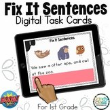 Fix It Sentences Grammar Activities: 1st Grade BOOM Cards™