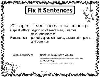 Fix It Sentences