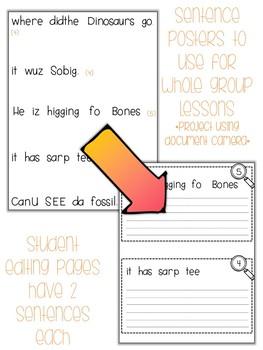 Fix-It! Writing Sentences (Dinosaur Edition)