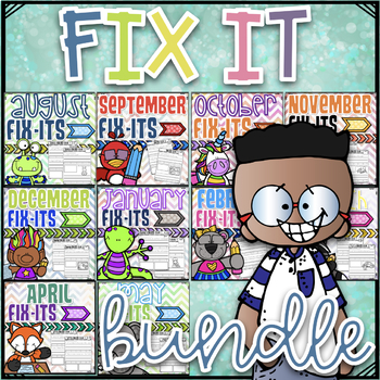 Fix It Sentences For the Year~ The Bundle