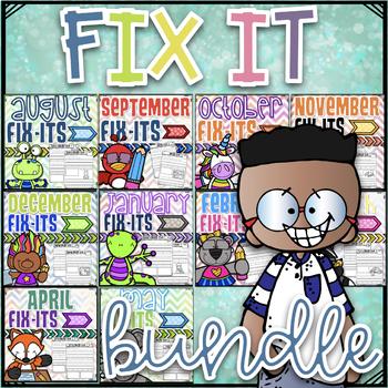 Fix It Sentences For the Year~ Growing Bundle