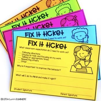 Fix A Ticket >> Fix It Ticket Classroom Management Tool For Behavior