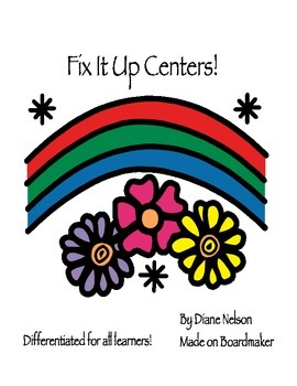 Fix It Up! Writing Center! Differentiated For ALL Learners!